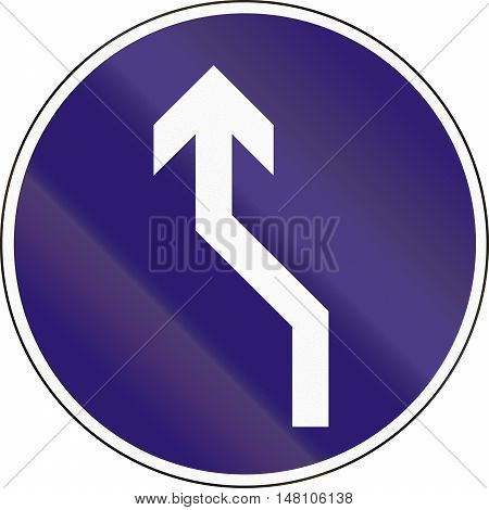 Road Sign Used In Hungary - Reverse Turn To The Left