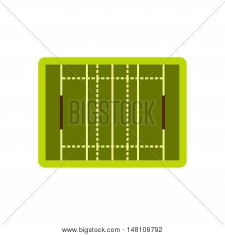 Rugby sport field icon in flat style on a white background vector illustration