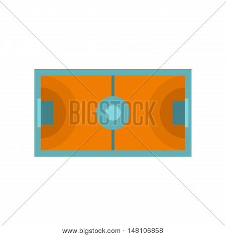 Futsal or indoor soccer field icon in flat style on a white background vector illustration