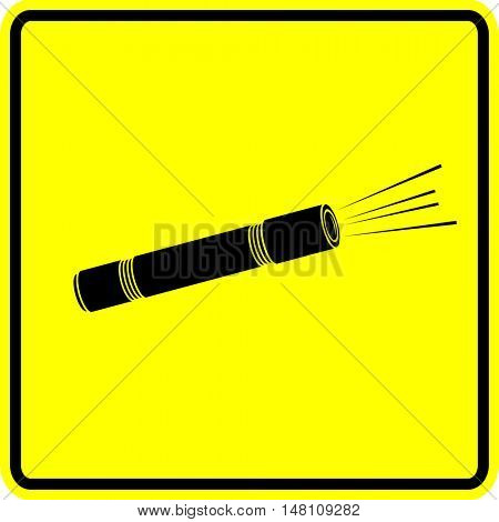 torch flashlight sign