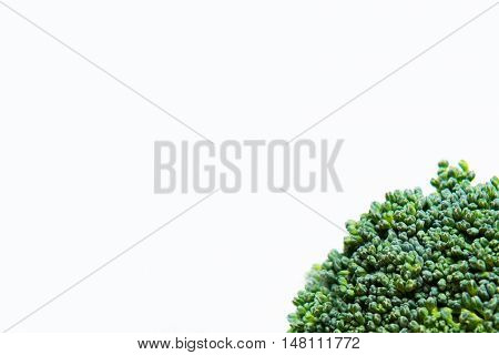 Close Up On Fresh Broccoli Solated On White Background