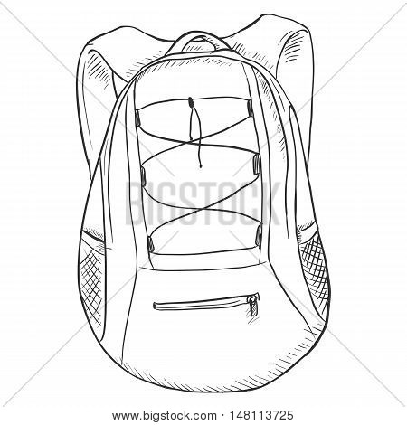 Vector Single Sketch Sport Backpack.