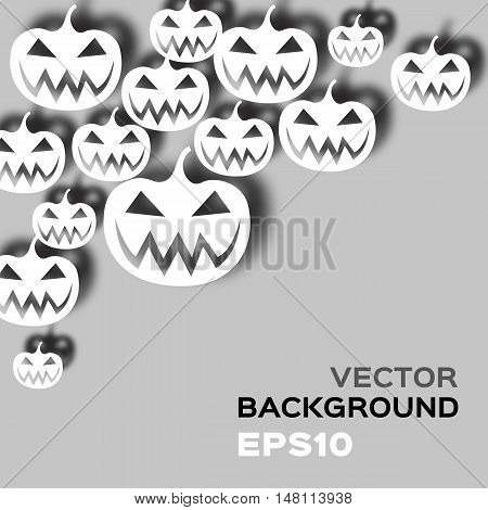 Vector abstract background with pumpkins. Halloween. EPS10