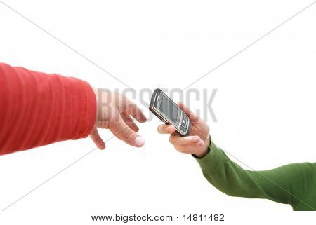 conceito de pessoas telefone conexão