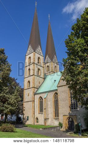 Two Towers Of The Marien Church In Bielefeld