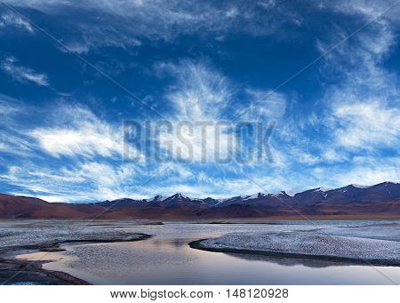 Tso Kar Lake In Ladakh, North India