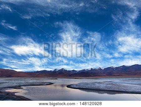 Tso Kar Lake In Ladakh, North India
