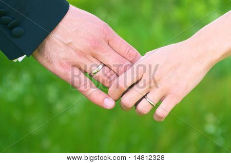 Wedding Hands Holding Each Other