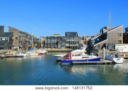 Deauville, the French norman town in Calvados department