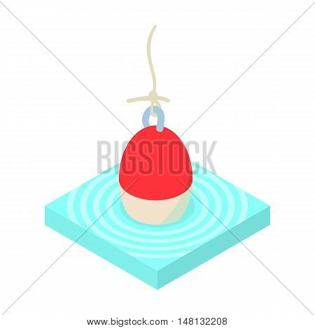 Fishing float icon in cartoon style isolated on white background vector illustration
