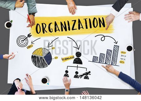 Organization Strategy Planning Branding Chart Concept
