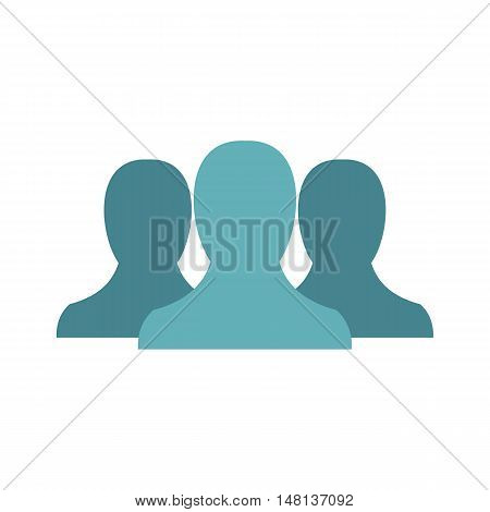Anonymous avatars icon in flat style isolated on white background. People symbol vector illustration