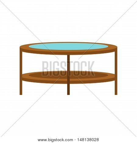 Round trampoline icon in flat style isolated on white background. Entertainment symbol vector illustration