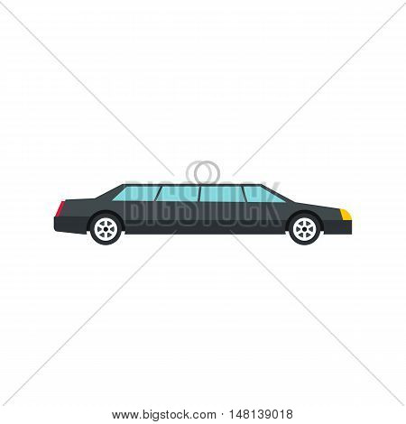 Wedding car icon in flat style isolated on white background. Transport symbol vector illustration