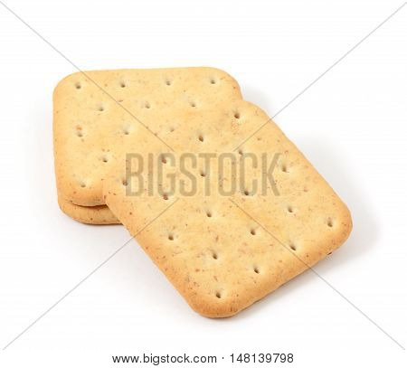 Dietary cookies with bran isolated on white background
