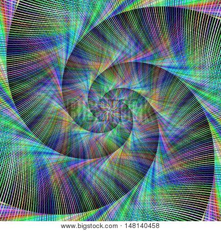 Computer generated spiral fractal design background vector