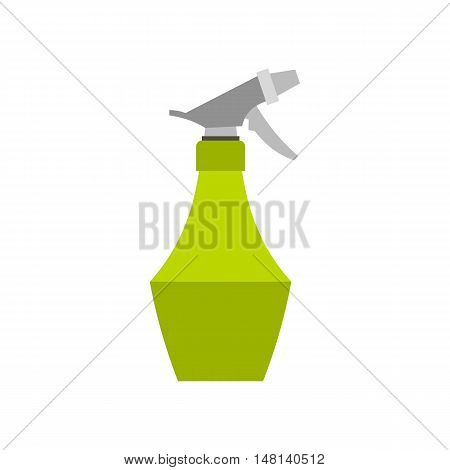Spray bottle for flower icon in flat style isolated on white background. Water symbol vector illustration