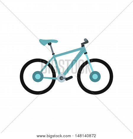 Sport bicycle icon in flat style isolated on white background. Riding symbol vector illustration