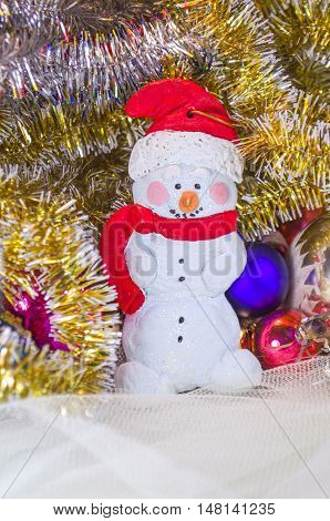 Christmas Salt Dough Snowman