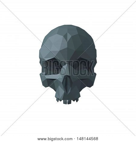 Abstract skull polygonal. Isolated on white background.Vector illustration.