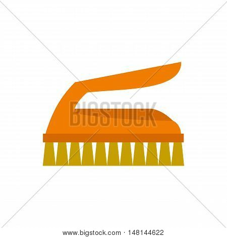 Cleaning brush icon in flat style isolated on white background. Clean symbol vector illustration