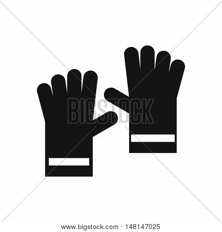 Rubber gloves icon in simple style isolated on white background. Hand protection symbol vector illustration