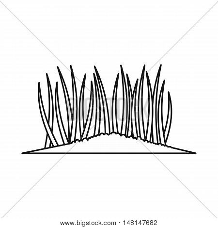 Grass icon in outline style isolated on white background vector illustration