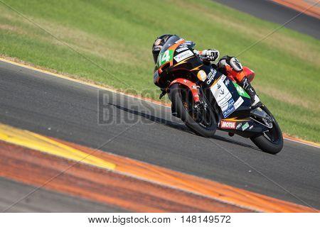 CHESTE, SPAIN - SEPTEMBER 17th: Pedro Acosta in Moto4 during Spanish Speed Championship CEV at Cheste Circuit on September 17, 2016 in Cheste, Spain