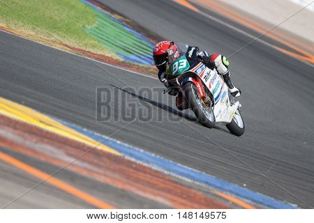 CHESTE, SPAIN - SEPTEMBER 17th: Tom Ber�§ot in Moto4 during Spanish Speed Championship CEV at Cheste Circuit on September 17, 2016 in Cheste, Spain