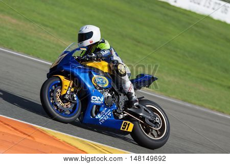 CHESTE, SPAIN - SEPTEMBER 17th: Marc Lopez in Open1000 during Spanish Speed Championship CEV at Cheste Circuit on September 17, 2016 in Cheste, Spain