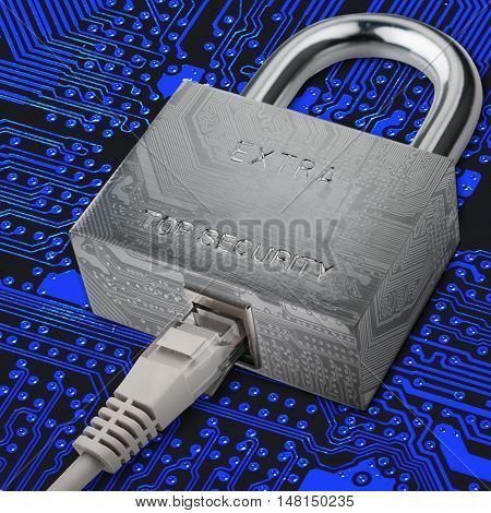 connection to internet security electronic security Internet traffic encryption.