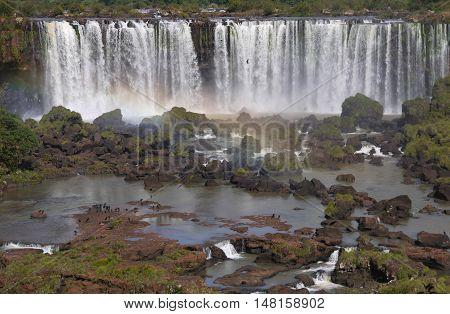 Iguazu National Park waterfall tropical rainforest Brazil Argentina