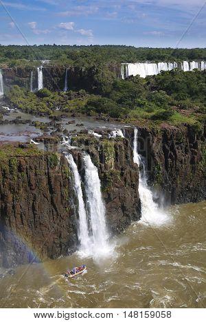 Iguazu National Park waterfall tropical rainforest scenic Brazil Argentina