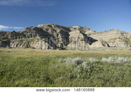 Landscape of Theodore Roosevelt National Park, North Dakota, USA