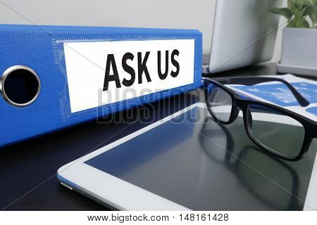 Ask Us Concept