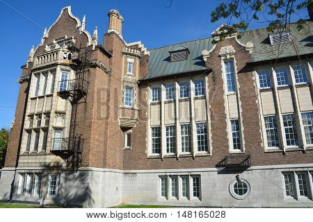 MONTREAL CANADA 09 15 2016: Concordia University Loyola campus is a public comprehensive university. Founded in 1974 following the merger of Loyola College and Sir George Williams University