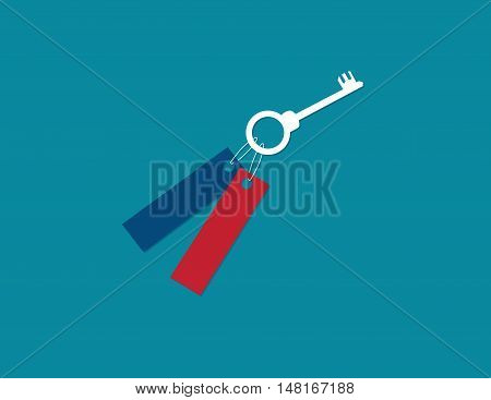 Key To Contribute To The Growth Of The Business. Concept Business Illustration. Vector Flat