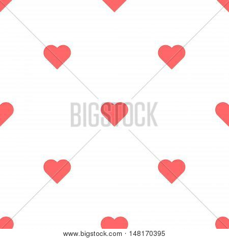 Heart Seamless Pattern. Valentines Day bacakground Vector illustration