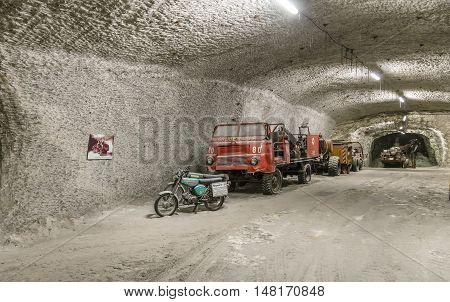 Fire Truck In  The Mining Plant Sondershausen In Germany