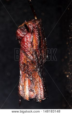 Smoking Pork Neck In Home Smokehouse