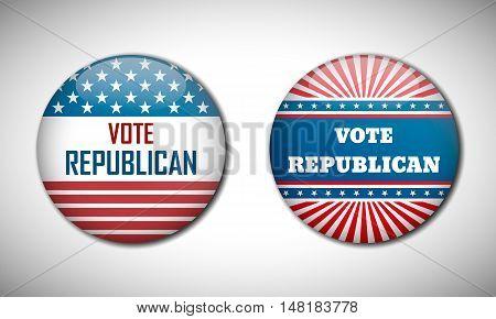 Badge Election Campaign 2016. Vote Republican.