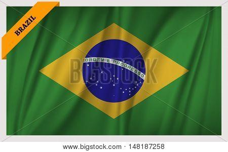 National flag of Brazil - waving edition