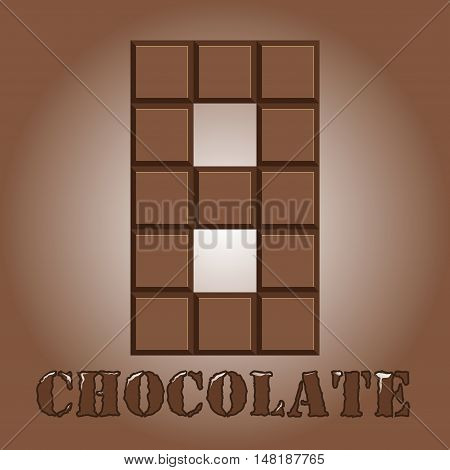 The Number Of Bars Of Chocolate. Eight