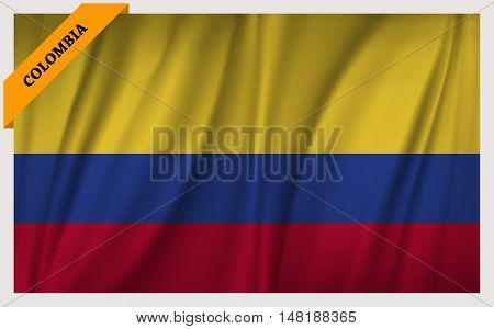 National flag of Colombia - waving edition