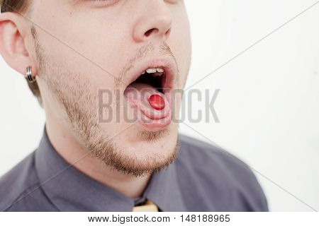 Man With Round Candy