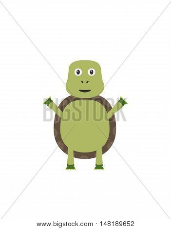 Funny Turtle Character