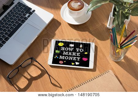 How To Make Money ? Concept
