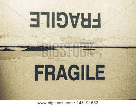 Vintage Looking Fragile Tag On Packet