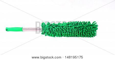 Microfiber  green Cleaner isolated on white background