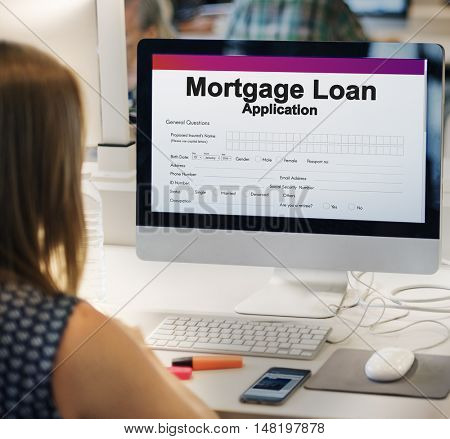 Mortgage Loan Funds Business Concept